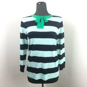 J. Crew size Medium Striped Merino Wool Sweater